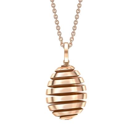 Rose Gold Spiral Egg Pendant | Fabergé