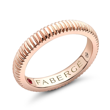 Rose Gold Fluted Ring | Fabergé