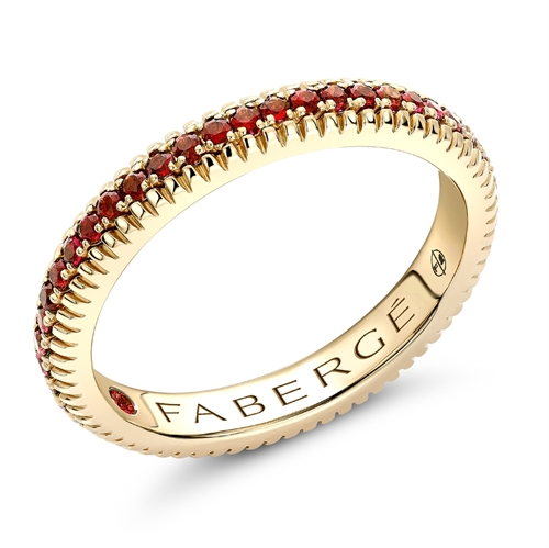 Yellow Gold Ruby Fluted Eternity Ring | Fabergé