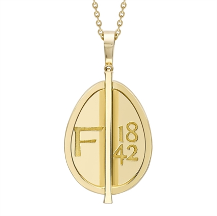 Yellow Gold Grande Egg Pendant | Fabergé