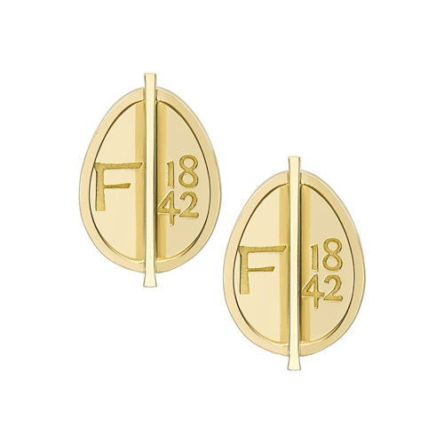 Yellow Gold Grande Egg Stud Earrings | Fabergé