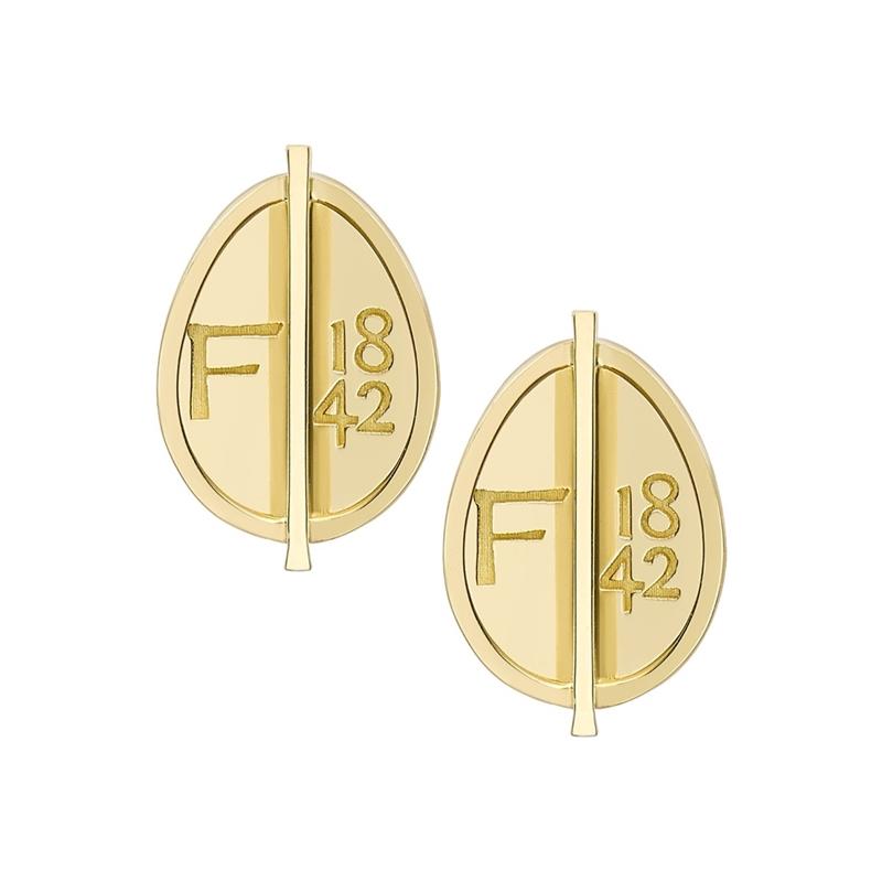 Yellow Gold Grande Egg Stud Earrings | Fabergé