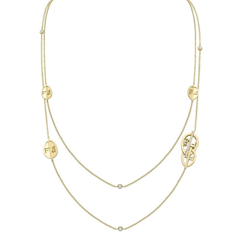 Yellow Gold & Diamond Egg Sautoir Necklace | Fabergé