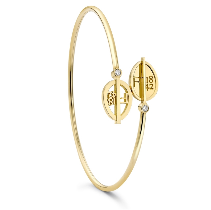 Yellow Gold & Diamond Egg Crossover Bracelet | Fabergé