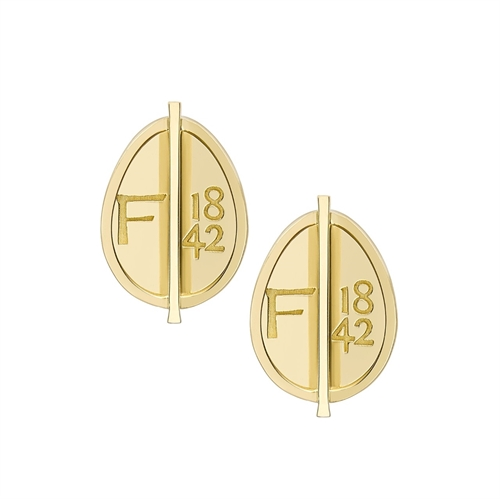 Yellow Gold Petite Egg Stud Earrings | Fabergé
