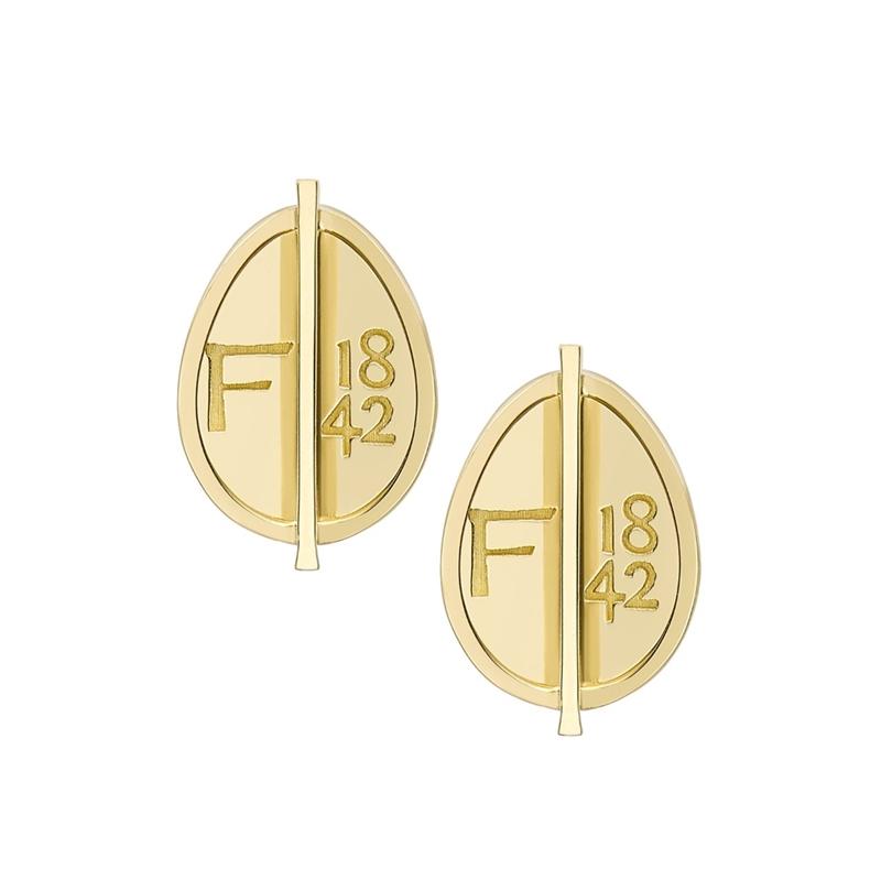 Yellow Gold Petite Egg Stud Earrings | Fabergé