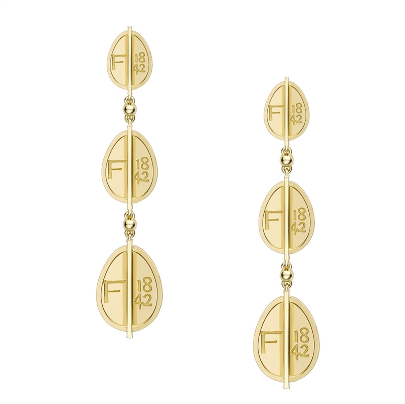 Yellow Gold Egg Drop Earrings | Fabergé