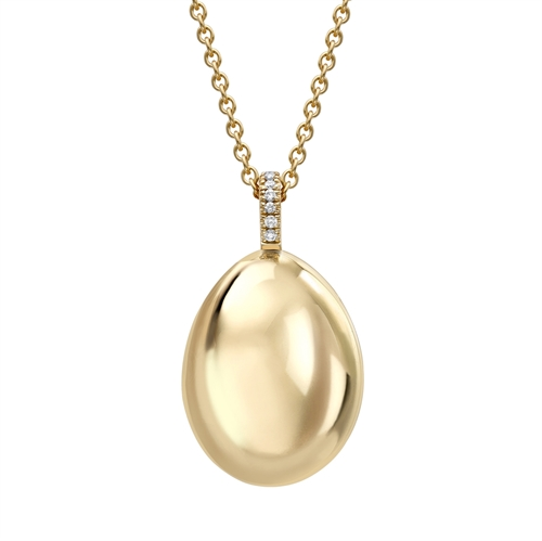 18K Yellow Gold Egg Pendant