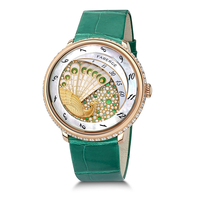 FABERGÉ WATCH – LADY COMPLIQUÉE PEACOCK EMERALD WATCH