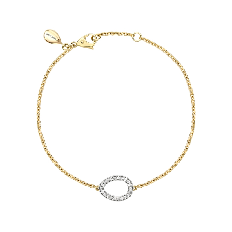 Yellow & White Gold Diamond Egg Chain Bracelet | Fabergé