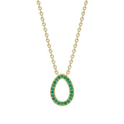 Yellow Gold Emerald Egg Pendant | Fabergé