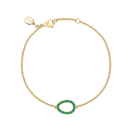 Yellow Gold Emerald Egg Chain Bracelet   Fabergé
