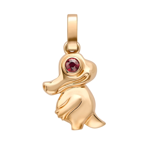 Fabergé Essence Rose Gold Crocodile Charm with Ruby Eyes I Fabergé