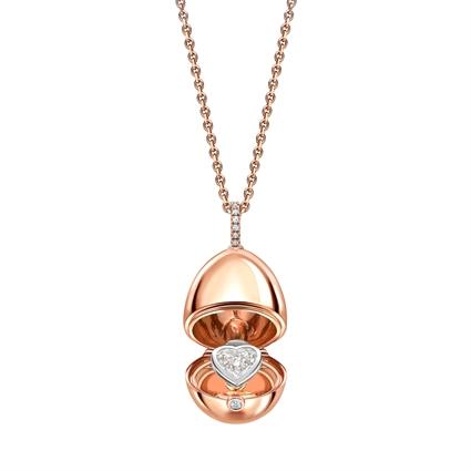 rose gold diamond heart locket