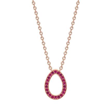 Rose Gold Ruby Egg Pendant | Fabergé