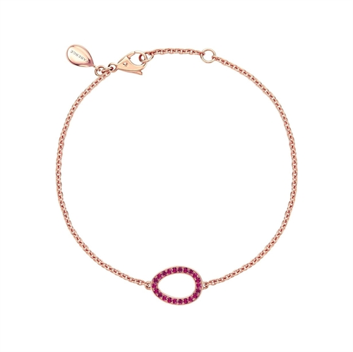 Rose Gold Ruby Egg Chain Bracelet | Fabergé