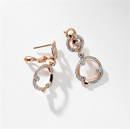 Rose Gold & Diamond Drop Earrings I Fabergé