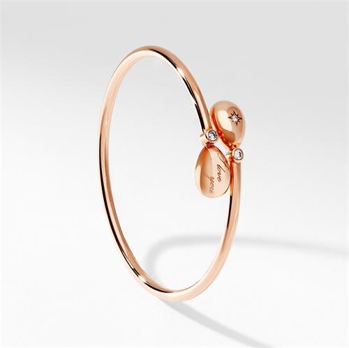 Rose Gold I Love You Crossover Bracelet   Fabergé