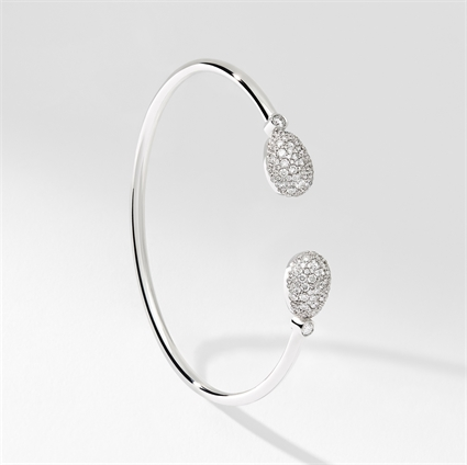 White Gold Diamond Open Bracelet | Fabergé