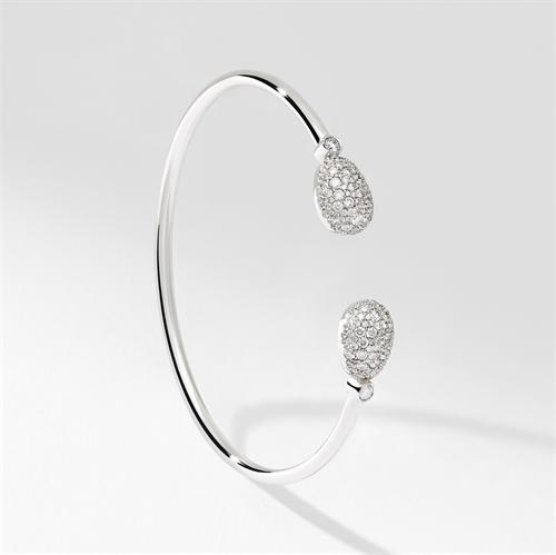 White Gold Diamond Open Bracelet | Fabergé