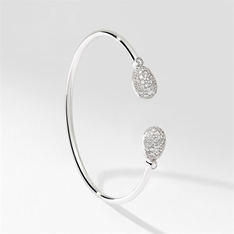 White Gold Diamond Open Bracelet   Fabergé