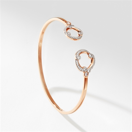 Rose Gold & Diamond Open Set Bracelet I Fabergé
