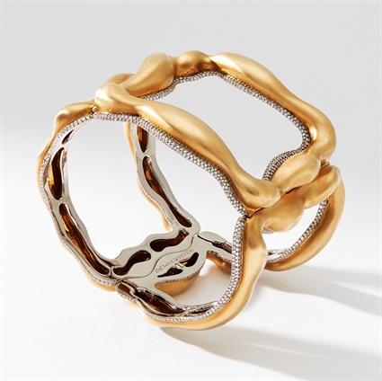 Fabergé Gypsy Gold and Diamond Bangle