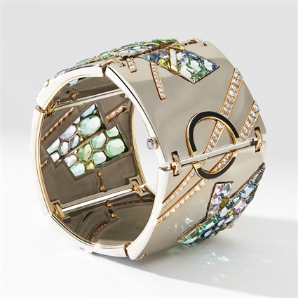 White Gold, Diamond & Gemstone Bracelet   Fabergé