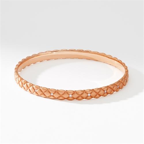 Brushed Rose Gold Diamond Set Bracelet | Fabergé