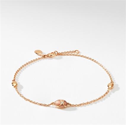 Rose Gold, Diamond & Pink Enamel Chain Bracelet | Fabergé