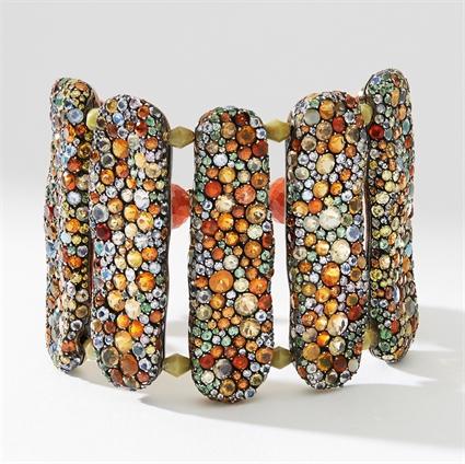Tzigane Gold, Diamond & Multicoloured Gemstone Bracelet | Fabergé