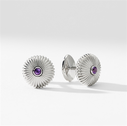 Sterling Silver & Amethyst Cufflinks from Fabergé